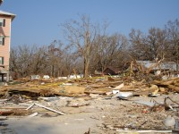 Damage on Gulf Coast in Mississipi where Ministry Team Went